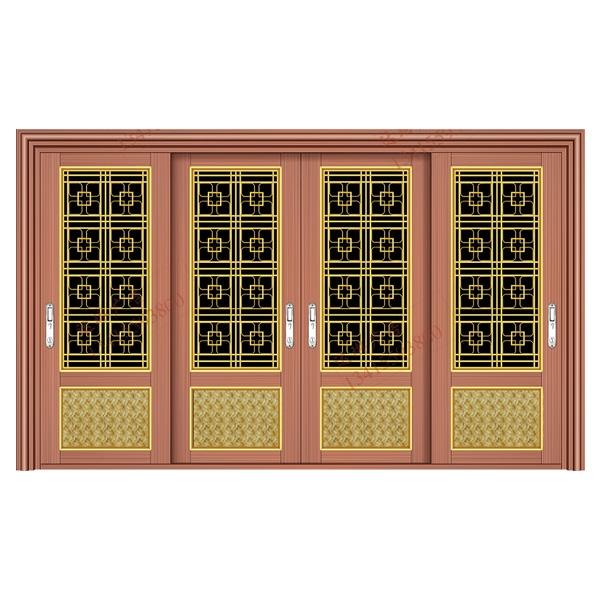 不锈钢彩板门 1085